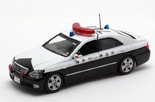 1/43 トヨタ クラウン GRS182 パトカー 2010 神奈川県警察 交通総務課 YOKOHAMA APEC特別警戒車両 #744(ホワイト×ブラック) H7431008