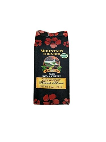 Mountain Thunder 100% Kona Coffee Peaberry French Roast