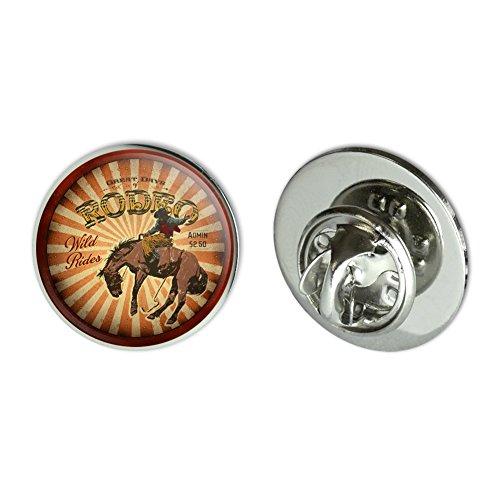 "GRAPHICS & MORE Rodeo Cowboy Vintage Horse Riding Bucking Metal 0.75"" Lapel Hat Pin Tie Tack Pinback"