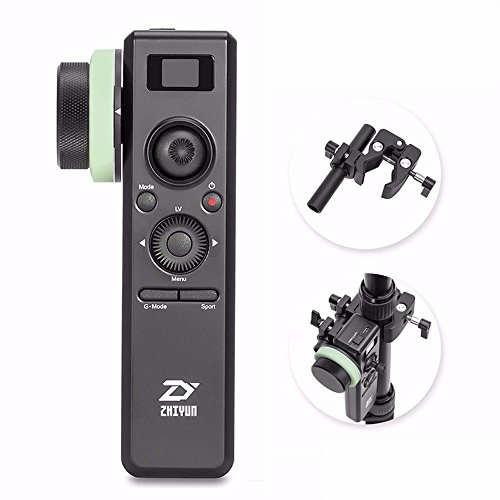Zhiyun Crane 2 Motion Sensor Remote Control with Follow Focus 2.4G Wireless Control 25 Hours Runtime Visualized Parameters On OLED Screen for Zhiyun Crane 2 with EACHSHOT Cleaning Cloth by zhi yun