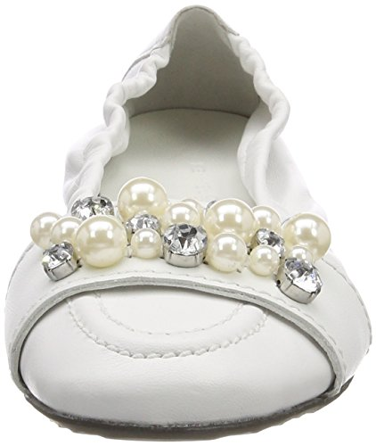 Weiß Closed Flats 417 Pearl Malu und Women's White Ballet Toe Kennel Schmenger ZI0zWw