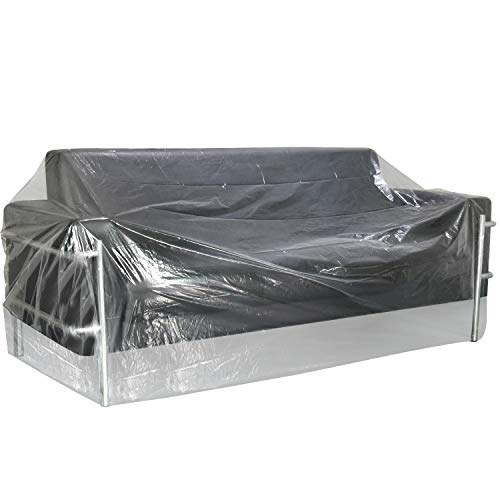 TUPARKA Furniture Cover Plastic Bag for Moving Protection and Long Term Storage, Sofa Cover Water Resistant, 110 x 72 inches (Moving Sofa Cover)
