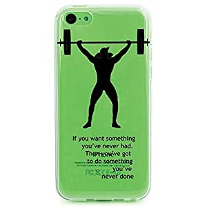 TPU Case for iPhone 5c - Powerlift Motivation (Clear 1) by tigerbrace
