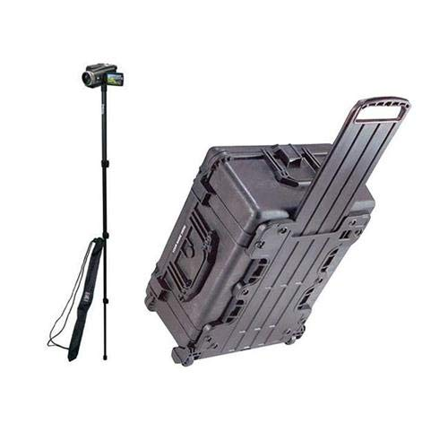(Pelican 1610 Watertight Hard Case with Dividers & Wheels - Charcoal Black - with Ape Case 52in Lightweight Monopod with Case)