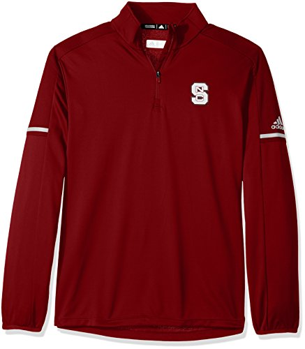 Jacket Wolfpack Nc State - adidas NCAA North Carolina State Wolfpack Men's Sideline L/S 1/4 Zip Pullover Jacket, Small, Power Red