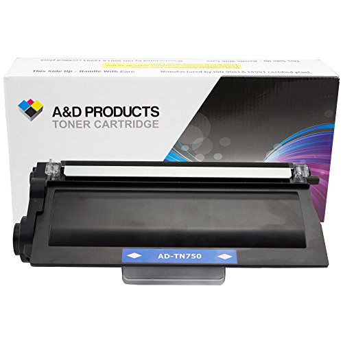 A&D Products Compatible Replacement For Brother TN750 High Yield Toner Cartridge Black (8,000 Page Yield)