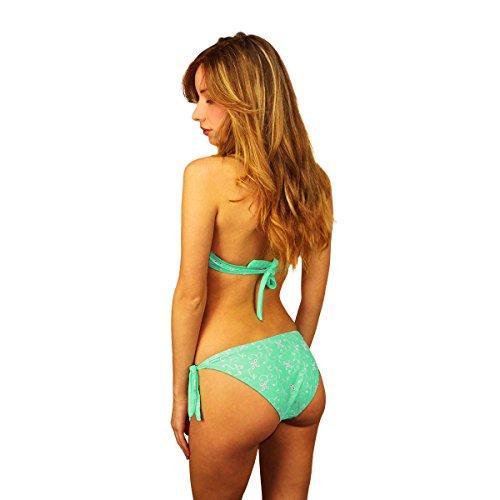 KL204 Costume bikini mod. Margot collezione Sensation by MWS AHEAD (46, Verde)