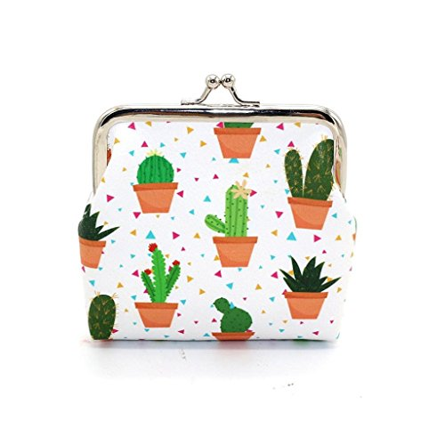 Creazrise Women Girls Cactus Snacks Coin Purse Cute Change Pouch Key Holder (B) by Creazrise (Image #1)