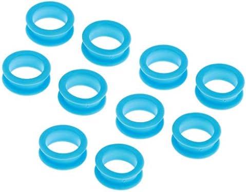 10個セット はさみフィンガーインサート 理髪用 はさみ ハサミ用 全11色 - ライトブルー