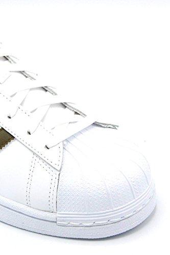 adidas Superstar, Scarpe da Corsa Uomo Bianco (Ftwbla/Olitra/Ftwbla)