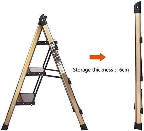 Hogar escalera plegable, delgado y ligero plegable cubierta espiga de escalera estante Pequeña Flor, 3 Escalera plegable plegable fácil de almacenar lxhff: Amazon.es: Bricolaje y herramientas