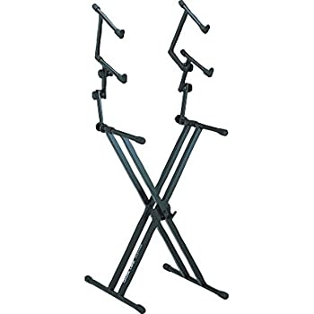 quik lok three tier heavy duty x keyboard stand musical instruments. Black Bedroom Furniture Sets. Home Design Ideas