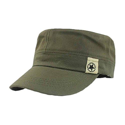 Longra Flachdach Militär Hat Kadett Patrouillen Busch Hut Baseball Feld Kappe (armygrün)