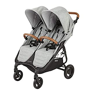 Weighing about 26 lbs and featuring an easy compact one hand fold, the Snap Duo Trend Double Stroller by Valco baby is among the lightest double strollers on the market. Luxurious features such as adjustable handle and footrest, extra canopy extensio...