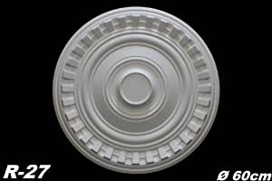 5–Rosetas poliestireno embellecedoras (Interior Decoración estuco de decoración (Diámetro, R de 27