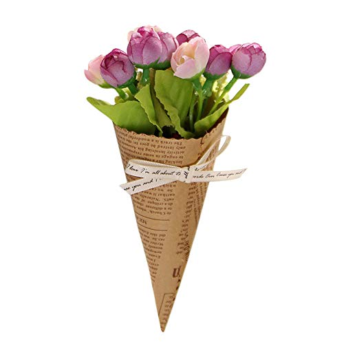 Togethor Artificial Lavender Plant with Silk Flowers for Wedding Decor and Table Centerpieces Calla Lily Bridal Wedding Bouquet Real Touch Artificial Flower