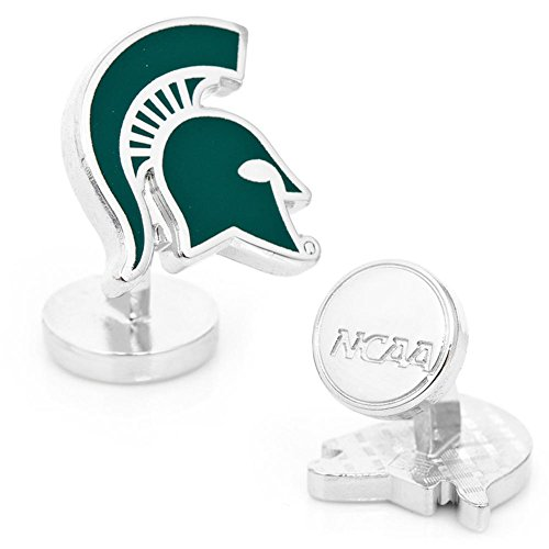 Michigan Spartans Cufflinks State (NCAA Mens Palladium Michigan State Spartans Cufflinks)