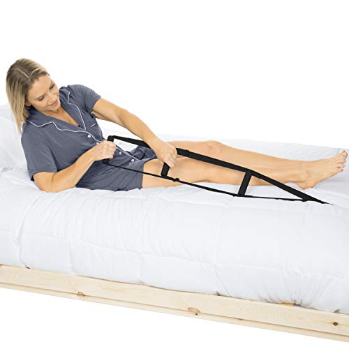Vive Bed Ladder Assist - Sit Up Assist Device with Handle Strap - Rope Ladder Caddie Helper - Sitting, Pull Up Hoist for Elderly, Senior, Injury Recovery Patient, Pregnant, Handicap - Padded Hand Grip