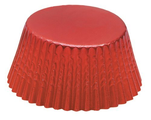 Fox Run 6969 Red Foil Bake Cups, Mini, - Mini Foil Cupcake Liners