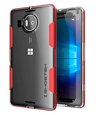 Lumia 950 XL Case, Ghostek Cloak Series for Microsoft Lumia 950 XL Slim Hybrid Impact Armor Cover Carrying Case | HD Screen Protector Exchange | Aluminum Bumper | Ultra Fit by Ghostek