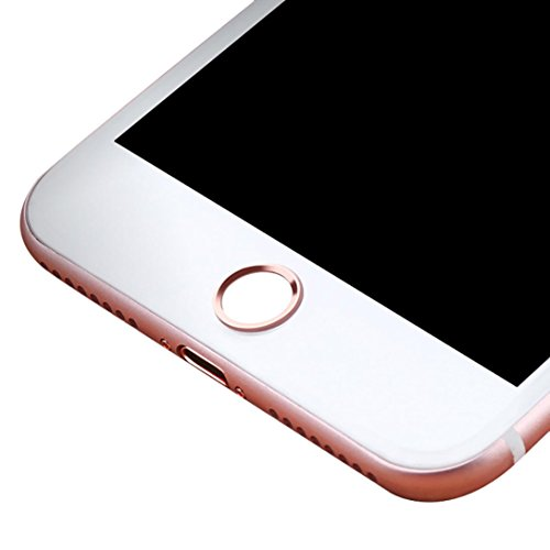 Price comparison product image Home Button For Iphone Case, Home Button Sticker Button Fingerprint Indentification Touch ID Protective phone (Rose Gold)