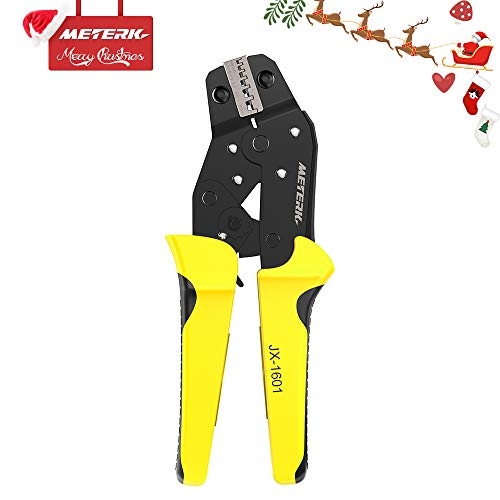 [CHRISTMAS] Meterk Crimping Tool Wire Crimpers With Carbon Steel Support Crimping Range Comfort Grip Terminals Connectors Ratcheting