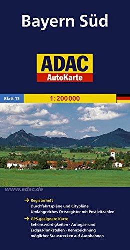 ADAC AutoKarte Deutschland, Bayern Süd 1:200.000 (ADAC AutoKarten Deutschland 1:200 000)