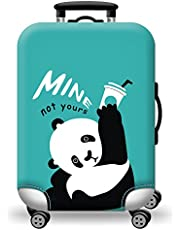 Quner Luggage Cover Protecting Suitcase Blue Elastic Cute Panda Pattern Luggage Protector for 18-31 inch Luggage