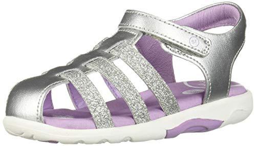 Stride Rite SRTech Luna Girl's Closed-Toe Sandal, Silver, 8.5 W US Toddler]()