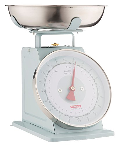(Typhoon Living Kitchen Weighing Scales with Stainless Steel Bowl, 15 x 26 x 22 cm, Blue)