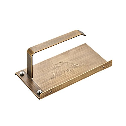 Vinmax Toilet Paper Towel Holder Stand Heavy Duty Drilling Paper Roller for Home Kitchen - Under Cabinet Bathroom Toilet Tissue Dispenser,Pure Copper with Phone Shelf,Gold & Black (Gold)