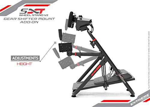 Extreme Sim Racing Gear Shifter Mount Add-on Upgrade for Wheel Stand SXT V2  - Fits only SXT V2
