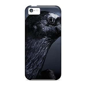 New Premium YFPzW2233tVxGF Case Cover For Iphone 5c/ Black Crow Protective Case Cover