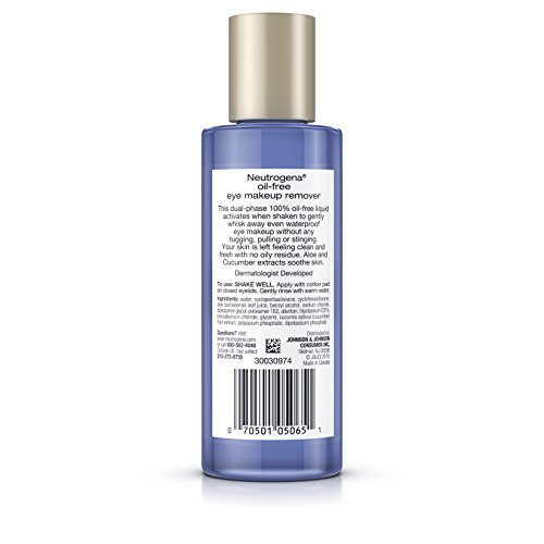 Neutrogena Oil-Free Gentle Eye Makeup Remover, 5.5 Fl. Oz. (Pack of 3) by Neutrogena (Image #4)
