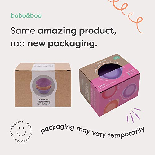 Bobo&Boo Bamboo 5 Piece Children's Dinnerware, Pacific Blue, Non Toxic & Eco Friendly Kids Mealtime Set for Healthy Infant Feeding, Great Gift for Baby Showers, Birthdays & Preschool Graduations by Bobo&boo (Image #2)