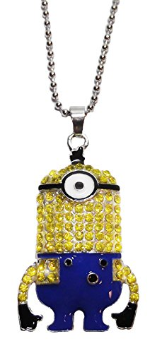 Despicable Me Movie STUART Character Minion Crystal PENDANT on 18