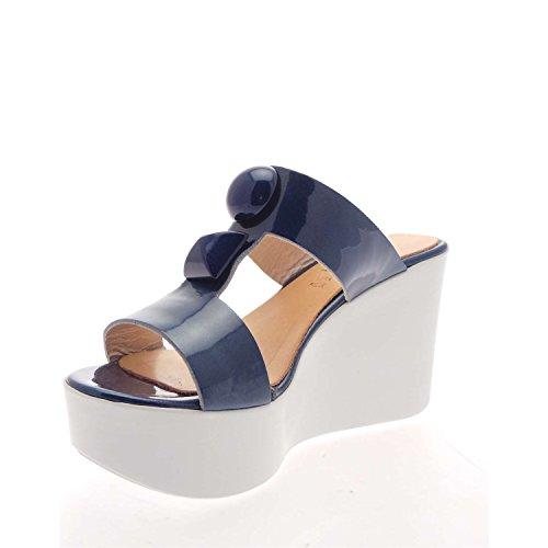 Salida buscando Envío gratis para la venta Zaccho Sandalias de Vestir de Piel Para Mujer Azul Azul coniOwRC