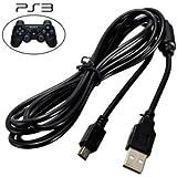 CABOS USB V3 C/FILTRO PARA CARREGAR CONTROLE PS3 - 1,50 Mts - PRETO