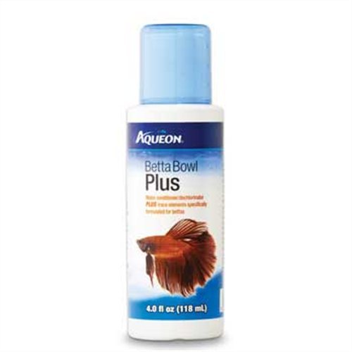 Aqueon Betta Bowl Plus Aquarium Tap Water Conditioner, 4-Ounce