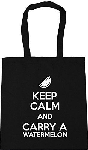 Beach Bag Shopping Keep and Gym x38cm 42cm Tote Carry HippoWarehouse Black Calm a litres 10 Watermelon xzf0wvvUq
