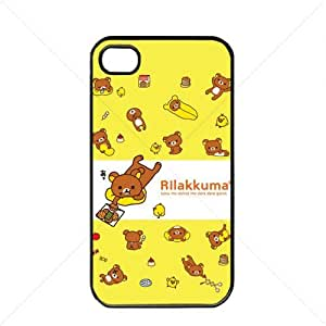 Cute Bear Teddy Apple iPhone 4 / 4s TPU Soft Black or White case (Black)