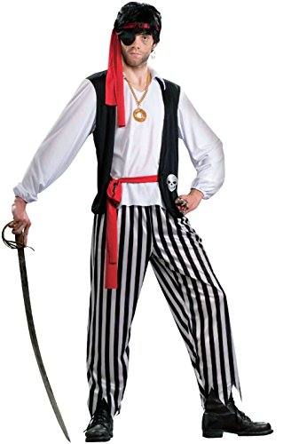 Forum Novelties Men's Pirate Matey Costume, Multi, (Male Pirate Costume)