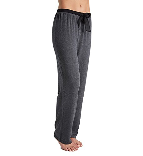 DKNY Women's Season Silhouettes Long Pant, Htgrcoal, Small (Dkny Womens Pants)