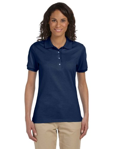 - Jerzees womens 5.6 oz. 50/50 Jersey Polo with SpotShield(437W)-J NAVY-2XL