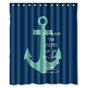 41Nw3d4hz5L._SS300_ 200+ Beach Shower Curtains and Nautical Shower Curtains