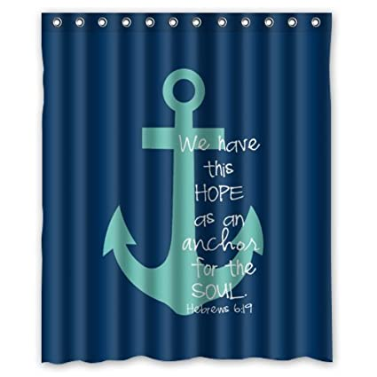 60quotw X 72quoth Cute Bible Verse Shower Curtain