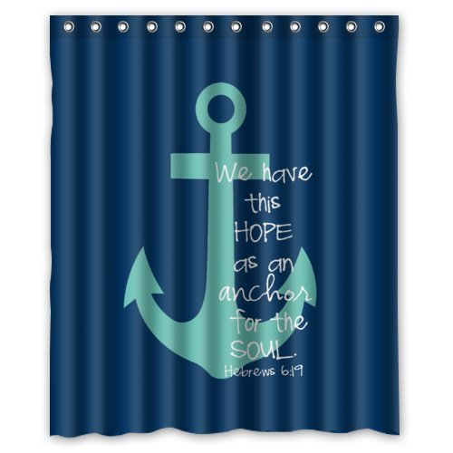 Amazon 60w X 72h Cute Bible Verse Shower Curtain We Have This Hope As An Anchor For The Soul Hebrew 619 Theme Print 100 Polyester Bathroom