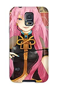Galaxy S5 Cover Case - Eco-friendly Packaging(headphones Cartoons Vocaloid Blue Blood Megurine Lukawhips Tongue Pinkmaps Anime Armbands Detached Sleeves Naillish Bangs Headsets)