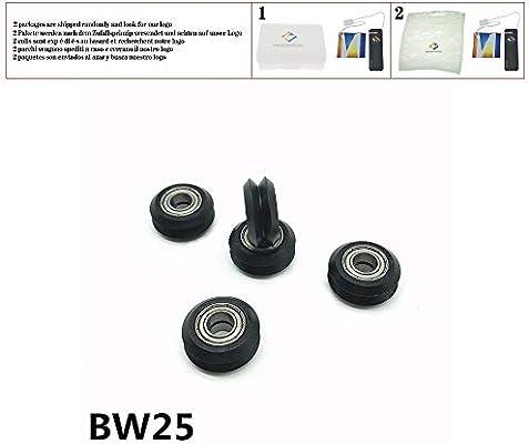2pcs BW25 V/W-groove Openbuilds impresora 3D rueda pasiva 20 Tipo ...