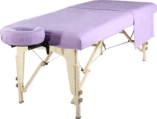 Master Massage Universal Massage Table Flannel Sheet Cover Set 3 in 1 (In 6 Colors) Table Cover, Face Cushion Cover,...